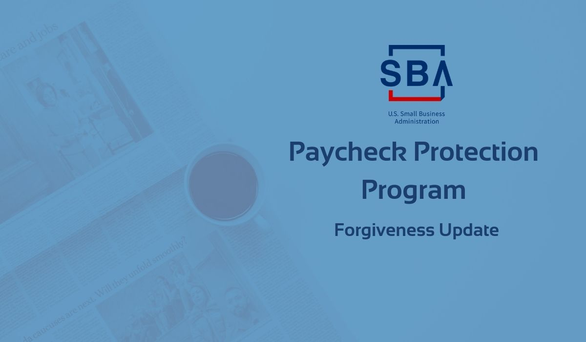 PPP Forgiveness Update